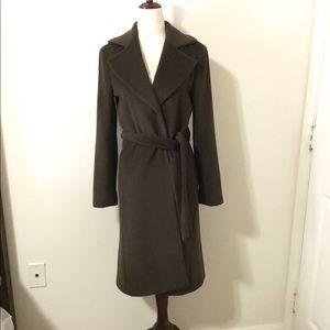 THEORY long chocolate angora coat/ jacket - small